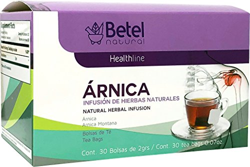 Arnica Tea by Betel Natural - Inflammation and Pain Support - 30 Tea Bags