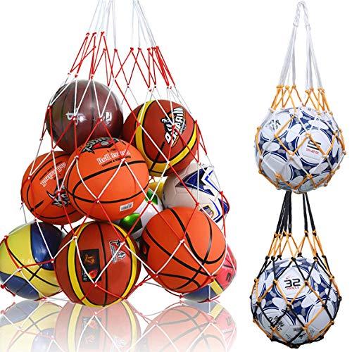 3 Pcs Portador Bolso de Red de Baloncesto,Bolso de Red de Fútbol, Bolso de Malla de Balones de Nailon, Deportes Malla Bolso de Futból,Carry Net Bag de Transporte para Baloncesto Voleibol Rugby