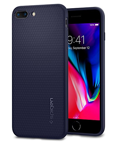 Spigen Cover Liquid Air Compatibile con iPhone 8 Plus Compatibile con iPhone 7 Plus - Midnight Blue