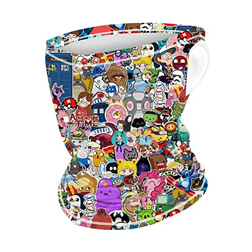 Kids Neck Gaiter with Ear Loops, Children Bandana Face Mask Scarf Balaclava Mouth Cover Sun Dust Protection for Boys Girls