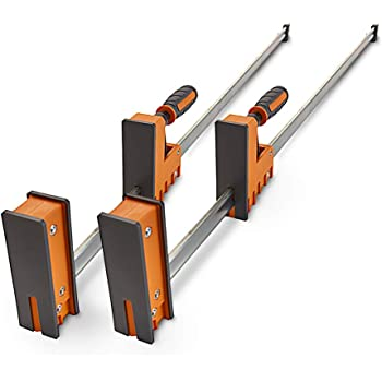 Bora 50 Parallel Clamp Set 2 Pack Of Woodworking Clamps With Rock Solid Even Pressure 571150t Amazon Com