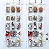 2-Pack SimpleHouseware Over the Door Hanging Pantry Organizer