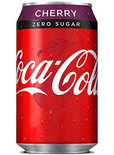 Coca Cola Cherry Zero Sugar Coke Cans - Taille du pack = 24x330ml