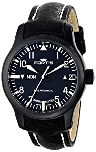 Fortis Men's 655.18.91 L.01 B-42 Flieger Big Date PVD Black Automatic Day and Date Leather Watch Shop and Buy NOW!!! and review