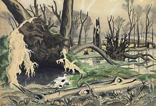Berkin Arts Charles Ephraim Burchfield Giclee Auf Leinwand drucken-Berühmte Gemälde Kunst Poster-Reproduktion Wand Dekoration(Sumpf im Frühling) Große größe 80 x 54.3cm