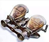 Farooque Collectible Antique Victorian Solid Brass r Binocular Glasses Compact Handheld Opera Monocular Telescope Toy Marine Lightweight Spyglass Nautical