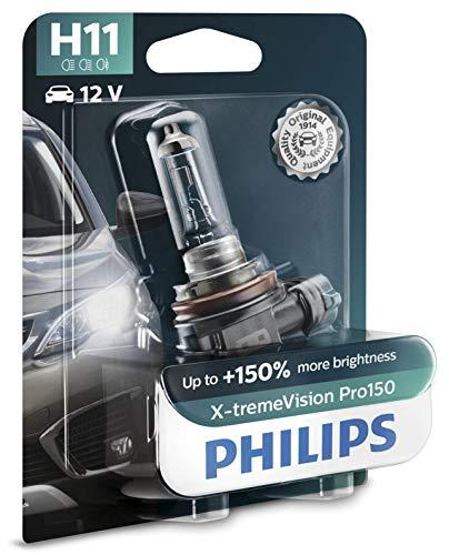 Philips X-tremeVision Pro150 H11 bombilla faros delanteros +150%, blister individual