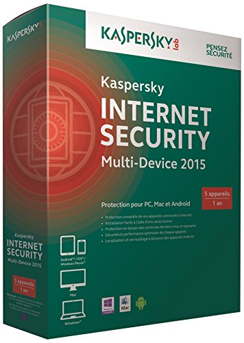 Kaspersky internet security multi-device 2015 (5 postes, 1 an)