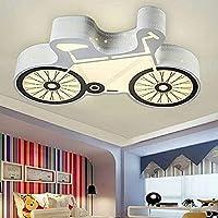 ランプペンダントライトシャンデリアシーリングライト家庭用装飾、自転車主導の天井ボーイガールベッドルームクリエイティブ幼稚園無段階、ホワイトライト