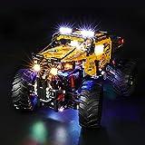 BRIKSMAX Kit de Iluminación Led para Lego Technic Todoterreno Radical 4 x 4,Compatible con Ladrillos de Construcción Lego Modelo 42099, Juego de Legos no Incluido