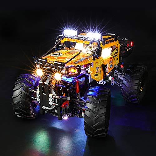 BRIKSMAX Led Beleuchtungsset für Lego Technic 4x4 X-Treme Off-Roader,Kompatibel Mit Lego 42099 Bausteinen Modell - Ohne Lego Set