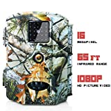 Olymbros Trail Camera 16MP Game Deer Hunting Cams Motion Activated Night Vision 65ft/20m