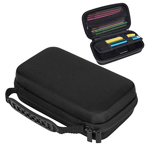 Schreibwaren-Tasche, tragbare Schreibwaren-Tasche, 4 Farben für Studenten Stifte Aufbewahrungsstifte Aufbewahrungskünstler(black)