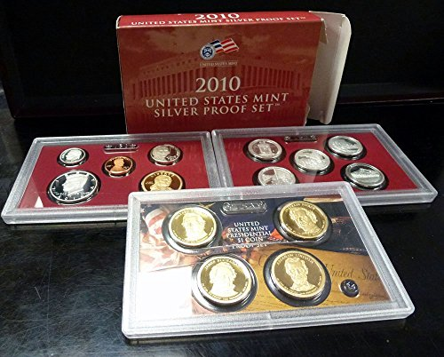 2010 S US Mint 14-coin Silver Proof Set Box & COA Proof (United States Mint Proof Set 1997 Value)