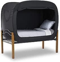 ان هاوس حجم توأم/مفرد,بوليستر,نمط لون موحد,اسود - خيم السرير