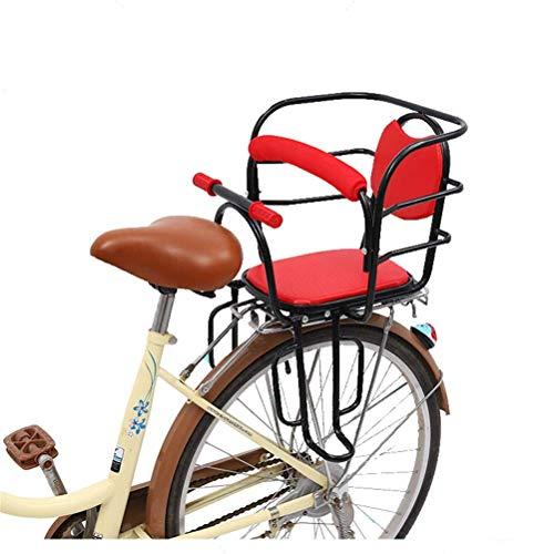 LKAIBIN Bicicleta de campo traviesa para niños, portabicicletas, asiento trasero para bebé, valla de seguridad, apoyabrazos y pedal adecuado para niños de 2 a 6 años