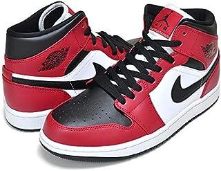 [ナイキ] エアジョーダン 1 ミッド AIR JORDAN 1 MID CHICAGO BLACK TOE black/blk-gym red 554724-069 AJ1 シカゴ [並行輸入品]