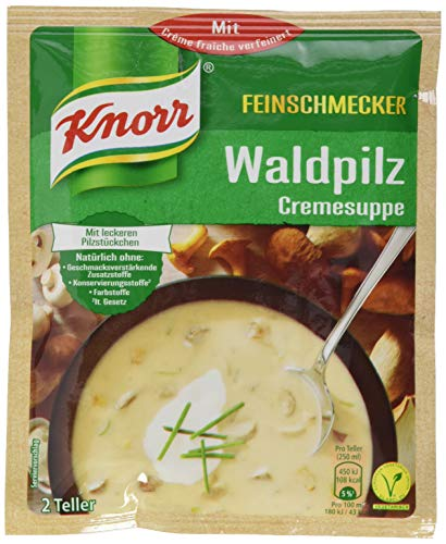 Knorr Feinschmecker Waldpilz Suppe, 16er Pack (16 x 500 ml)