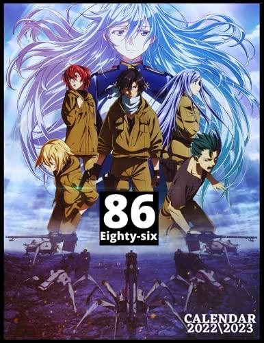86 EIGHTY-SIX CALENDAR 2022\2023: Anime manga monthly calendar 2022 size...