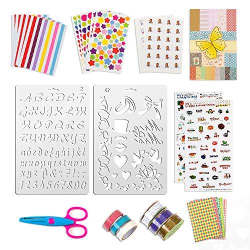 32 piezas Álbum de fotos diseñe usted mismo accesorios set regalos para bebé niño niña, pegatinas de scrapbooking decoración artesanía amor diseño de bricolaje tarjetas de diario para libro de fotos