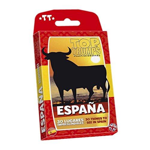 Winning Moves- Top Trumps España 30 Lugares Imprescindibles Juego de Cartas - versión bilingüe en español e inglés (482608)