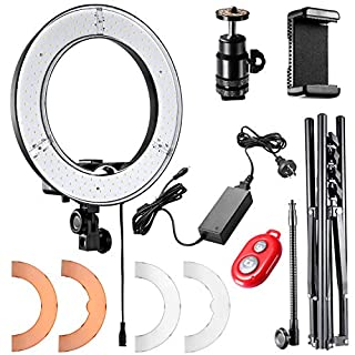 Neewer 12-inch Inner/14-inch Outer LED Ring Light and Light Stand 36W 5500K Lighting Kit with Soft Tube,Color Filter,Hot Shoe Adapter,Bluetooth Receiver for Camera Smartphone YouTube TikTok Video Shooting (B078993P7Y)   Amazon price tracker / tracking, Amazon price history charts, Amazon price watches, Amazon price drop alerts