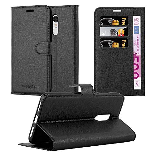 Cadorabo Funda Libro para Xiaomi RedMi Note 4 en Negro Fantasma - Cubierta Proteccíon con Cierre Magnético, Tarjetero y Función de Suporte - Etui Case Cover Carcasa