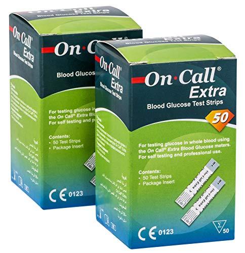 On Call Extra Blutzucker Teststreifen Super Sale Set   100 Stück On Call Extra Blutzucker Teststreifen  ACHTUNG: Ablaufdatum 07/2020