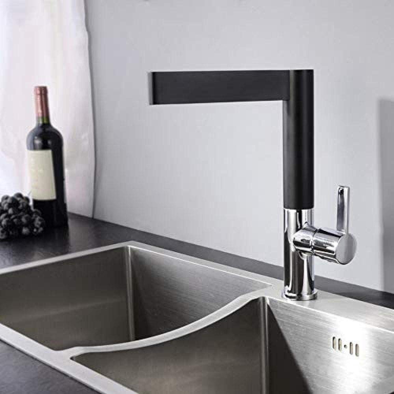 Küchenarmatur Küchenarmatur Schwarz 360 Swivel Chrom Schwarz Spüle Wasserhahn Mischbatterie Kalt Und Warm Küchenmischbatterie