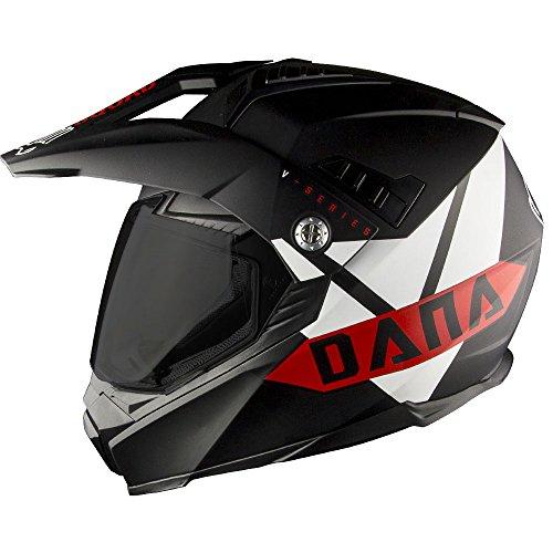 Voss 601 D2 Dual Sport Helmet Vroom Vroom Dana Edition Pinlock 70 Anti-Fog Full Face Motocross DOT/ECE - XS - Matte Red Dana