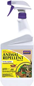 Bonide Hot Pepper Wax Animal Repellent, Ready-to-Use, 32 oz