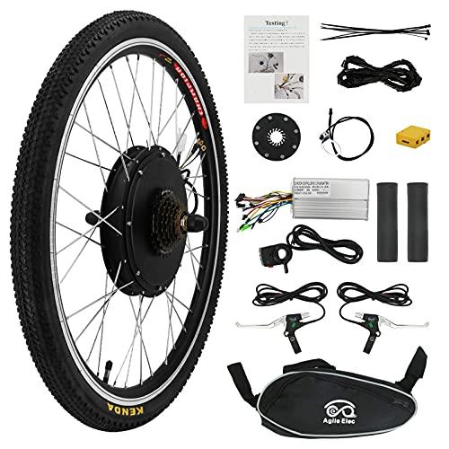 Kit de conversión para bicicleta eléctrica de 26 pulgadas, 48 V, 1000 W, motor de buje para bicicleta, bicicleta eléctrica, kit de conversión (rueda trasera)