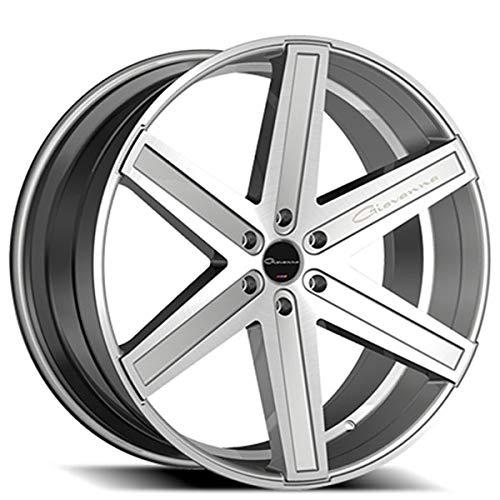 Giovanna Dramuno-6 – 26 Inch Rims – Set of 4 Silver Machined Wheels – Sports Racing Cars – Fits Challenger, Charger, Mustang, Camaro, Cadillac and More (26x10) – Rines Para Carros – Car Rim Wheel