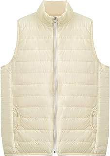 Macondoo Womens Sleeveless Lightweight Puffer Thicken Waistcoat Jacket Down Vest