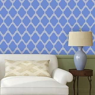 J BOUTIQUE STENCILS Moroccan Wall Stencil Rabat Allover Trellis Reusable Stencil - for DIY Wallpaper Home Decor