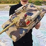 WGFGXQ RC Car Large Control Remoto Tanque Crawler Cargador El vehículo de Control Remoto Puede lanzar Armas de Fuego para Que coincida con el automóvil Todoterreno móvil Niños Boy Toy Control remot