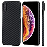 "PITAKA Slim Case Compatible with iPhone Xs 5.8"", MagEZ Case Aramid Fiber [Real Body Armor Mater…"