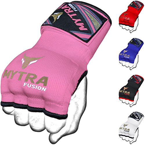 Mytra Fusion Kids Hybrid Boxing Inner Gloves Punching Boxing MMA Muay Thai Gym Workout Gel Inner Gloves (Pink, Junior)