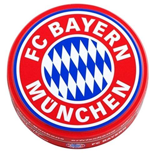 FC Bayern München Bonbons mit Kirsch- und Eisbonbongeschmack, Dosenbonbons FCB - Plus Lesezeichen I Love München