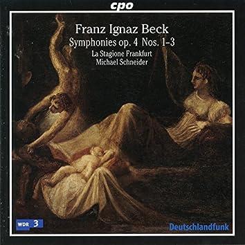 Beck: Symphonies, Op. 4 Nos. 1-3