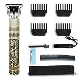 Cortapelos inalámbricos para hombre, maquinilla de afeitar eléctrica profesional profesional para barba, máquina de afeitar, corte de pelo, corte de pelo, dragón y fénix, plata