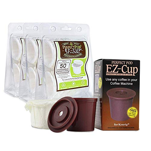 Perfect Pod EZ-Cup & EZ Cup Filters (155 Filters) Combo Pack for Keurig 1.0 Brewers By Perfect Pod