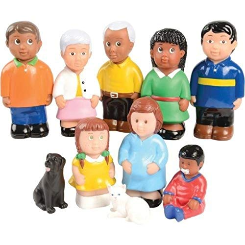 Constructive Playthings POM-730 Easy Grip Friends and Family Figures Set of 10