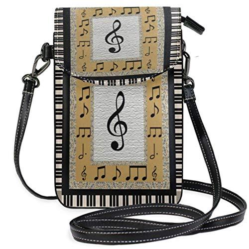 XCNGG Monedero pequeño para teléfono celular Piano_ Cell Phone Purse Wallet for Women Girl Small Crossbody Purse Bags