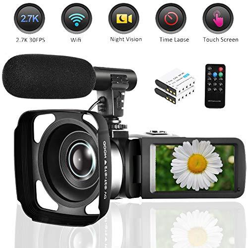 Check Out This Seree Camcorder Video Camera 2.7K WiFi Vlogging Camera Night Vision Digital Camera wi...