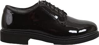 Black High Gloss Shiny Oxfords Uniform Shoes Dress Military Uniform Duty