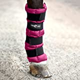 HORZE Finntack Pro Cooling Therapy Ice Wrap for Horses - 1 Size - Single (Boysenberry Purple)