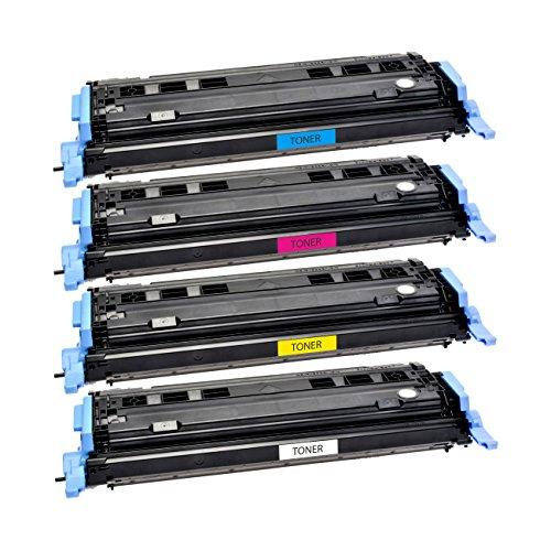 4 Logic-Seek Toner kompatibel zu HP Color Laserjet 1600 1600N 2600 2600N 2600NSE 2605 2605DN 2605DTN CM1015 MFP CM1017 Q6000A Q6001A Q6002A Q6003A Schwarz 2.500 Seiten Color je 2.500 Seiten.