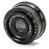 Industar 50-2 50/3.5 50mm black Russia USSR Soviet lens SLR DSLR camera Zenit Praktica M42 CLA