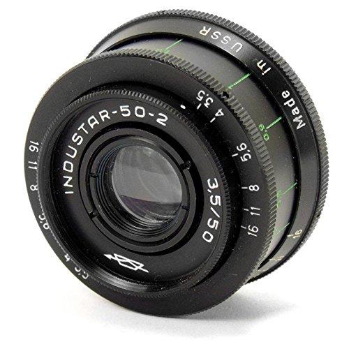 Industar Russisches Objektiv, Zenit Praktica M42 CLA Spiegelreflexkamera, 50-2, 50/3,5, 50 mm, Schwarz